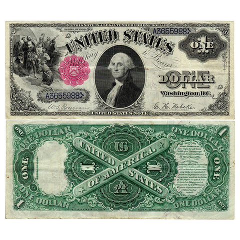 1880 $1 Legal Tender 'Sawhorse' Note - Fr. 34 - Crisp Very Fine