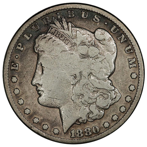 1880-CC Morgan Dollar - Reverse of 1879 - Very Good