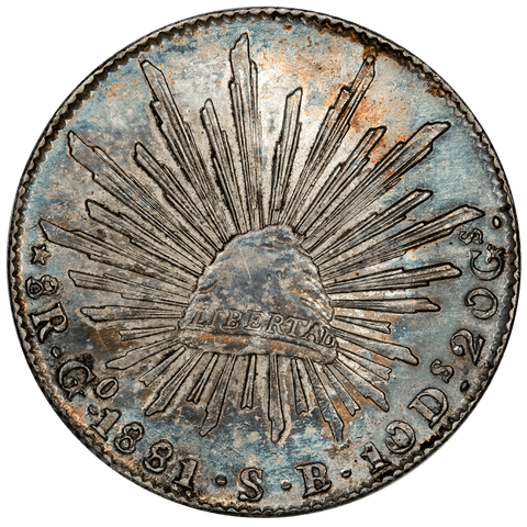 1881-GoSB Mexico Cap & Rays 8 Reales - KM. 377.8 - Gorgeous Choice About Uncirculated