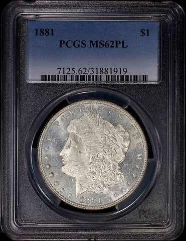 1881 Morgan Dollar - PCGS MS 62 PL