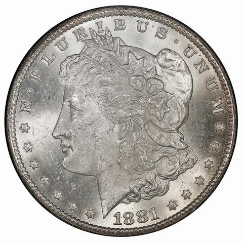 1881-CC Morgan Dollar in GSA, Choice Brilliant Uncirculated, Includes Box/Cert