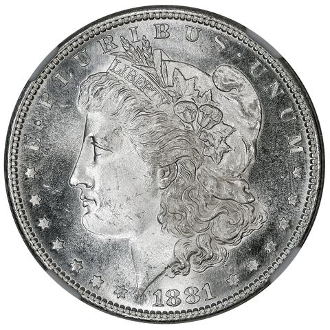 1881-S Morgan Dollar - NGC MS 66 Star - Gem Brilliant Uncirculated+