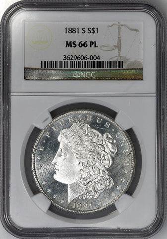 1881-S Morgan Dollar - NGC MS 66 PL - Gem Prooflike