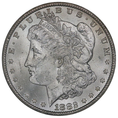 1882-CC Morgan Dollar in GSA, Choice Brilliant Uncirculated, Includes Box/Cert