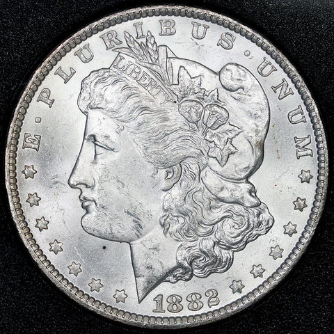 1882-CC Morgan Dollar in GSA, Brilliant Uncirculated, Includes Box/Cert