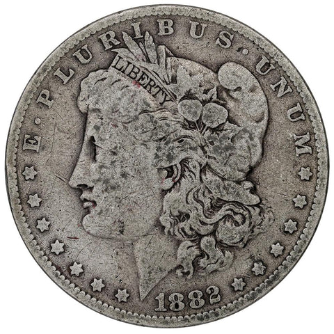 1882-O/S Top-100 VAM-3 Flush O/S Morgan Dollar - Very Good/Fine