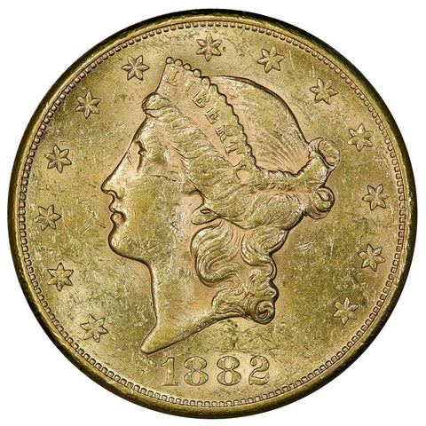 1882-S $20 Liberty Double Eagle Gold Coin - About Uncirculated