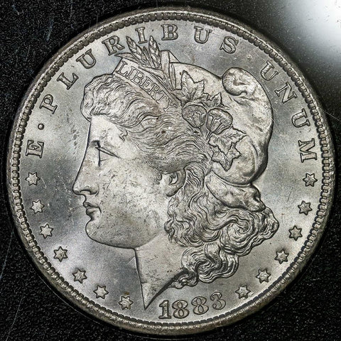 1883-CC Morgan Dollar in GSA, Choice Brilliant Uncirculated, Includes Box/Cert