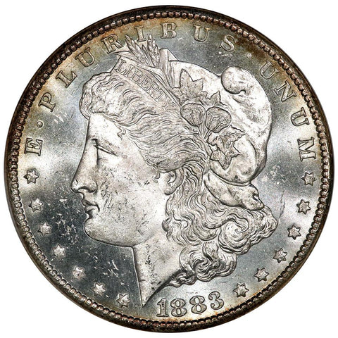 1883-CC Morgan Dollar - ANACS MS 63 PL - Choice Brilliant Uncirculated