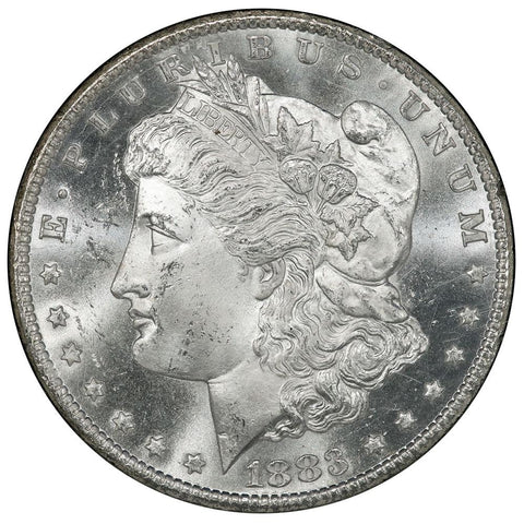 1883-CC Morgan Dollar in GSA, Choice Brilliant Uncirculated+, Includes Box/Cert