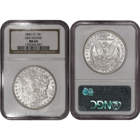 1883-CC Morgan Dollar - NGC MS 64 GSA - Choice Brilliant Uncirculated