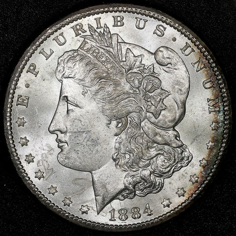 1884-CC Morgan Dollar in GSA, Brilliant Uncirculated, Includes Box/Cert