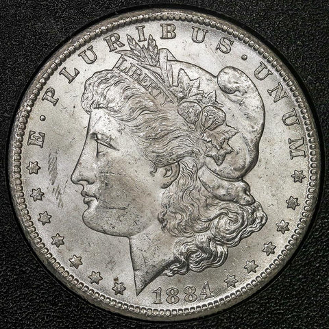 1884-CC Morgan Dollar in GSA, Choice Brilliant Uncirculated, Includes Box/Cert
