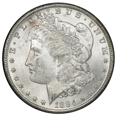 1884-CC Morgan Dollar in GSA, Brilliant Uncirculated, In Box w/ COA