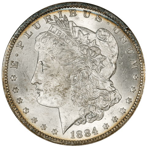 1884-O Morgan Dollar - NGC MS 64 - Old NGC 3 No Line Fatty Holder