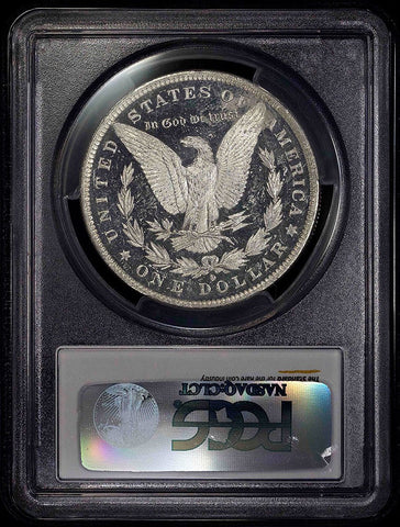 1884-O Morgan Dollar - PCGS MS 62 DMPL Full Black & White Cameo