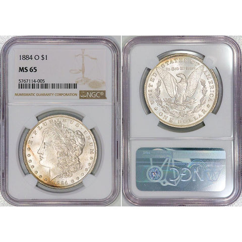 1884-O Morgan Dollar - NGC MS 65 - Gem Brilliant Uncirculated