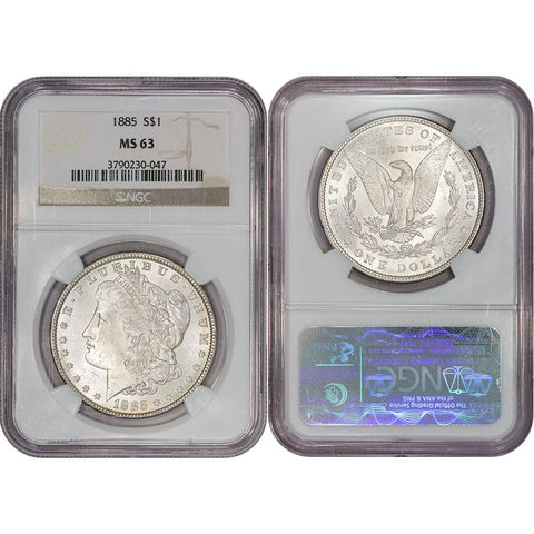 1885 Morgan Dollar - NGC MS 63 - Choice Brilliant Uncirculated