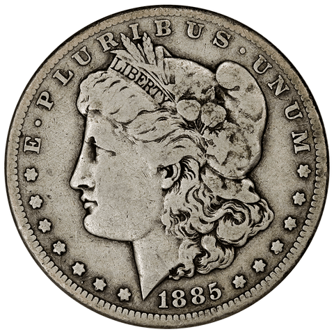 1885-CC Morgan Dollar - Fine - Mintage of 228,000