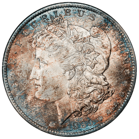 1885-O Morgan Dollar - ANACS MS 63 - Pretty Color