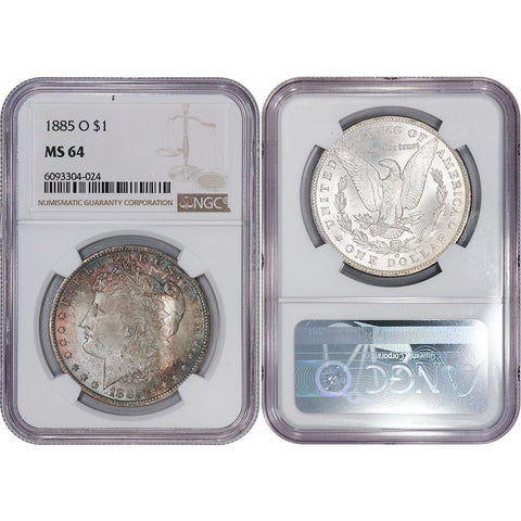 1885-O Morgan Dollar - NGC MS 64 - Choice Uncirculated