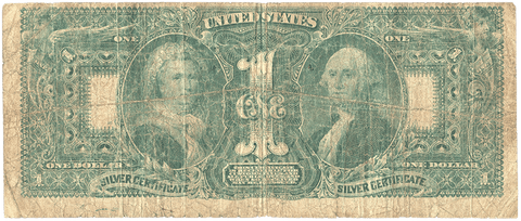 "1886 $1 ""Educational"" Silver Certificates Fr. 224 - Very Good"