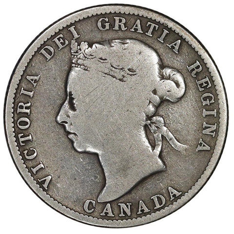 1886 Canada 25 Cent Silver KM.5 - Very Good