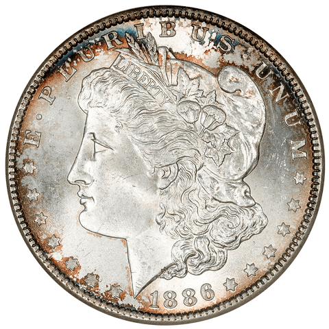 1886 Morgan Dollar - NGC MS 64 - Old NGC 3 No Line Fatty Holder