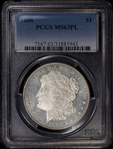 1886 Morgan Dollar - PCGS MS 63 PL