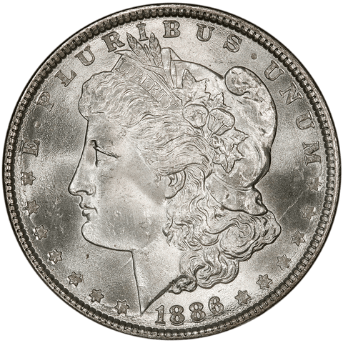 1886 Morgan Dollar - NGC MS 66 - Gem Uncirculated