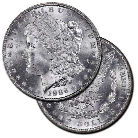 Morgan Dollars by Date (1886-1893) - Brilliant Uncirculated