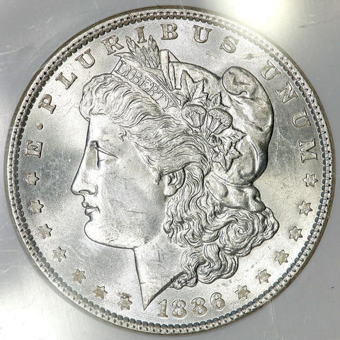 1886 Morgan Dollar in NGC MS 64 - Choice Brilliant Uncirculated