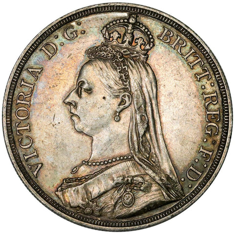 1887 Great Britain Silver Crown KM.765 - About Uncirculated