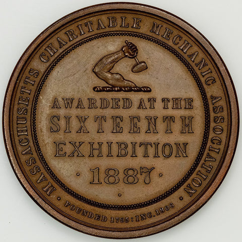 1887 Massachusetts Charitable Mechanic Association Bronze Medal - Mitchell Obverse
