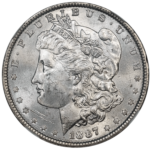 1887 Morgan Dollar in NGC MS 63 - Olathe Hoard