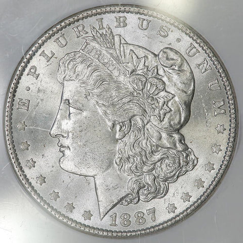 1887 Morgan Dollar in NGC MS 64 - Choice Brilliant Uncirculated