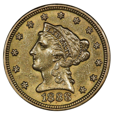 1888 $2.5 Liberty Gold Coin - About Uncirculated+