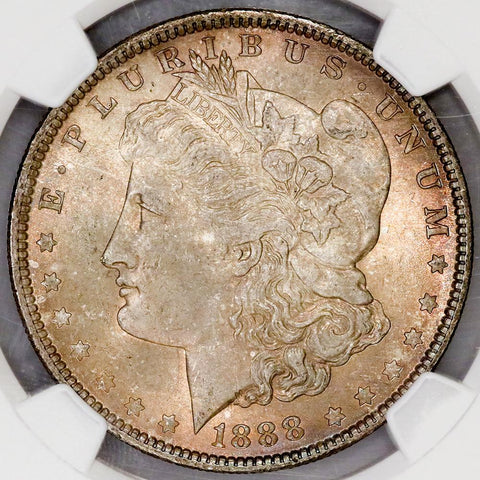1888 Morgan Dollar - NGC MS 64 - Choice Toned Uncirculated