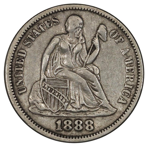 1888 Seated Dime - Extremely Fine