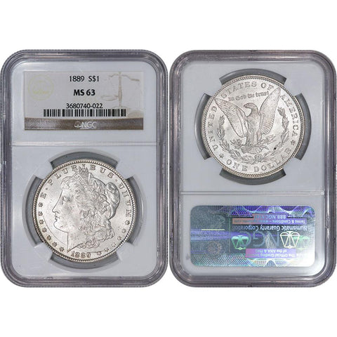 1889 Morgan Dollar - NGC MS 63 - Choice Brilliant Uncirculated