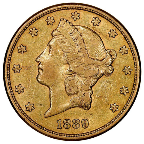 1889-S $20 Liberty Double Eagle Gold Coin - Extremely Fine (Just $25 Over Melt)