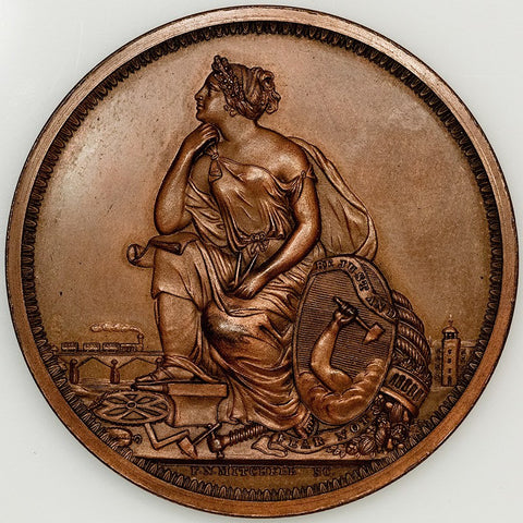 1890 Massachusetts Charitable Mechanic Association Bronze Medal - Mitchell Obverse