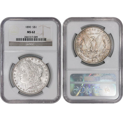 1890 Morgan Dollar - NGC MS 62 - Brilliant Uncirculated