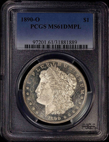 1890-O Morgan Dollar - PCGS MS 61 DMPL