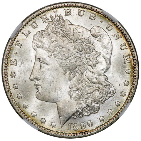 1890-O Morgan Dollar VAM-1H Leg Gouges - NGC MS 64 - Choice Uncirculated