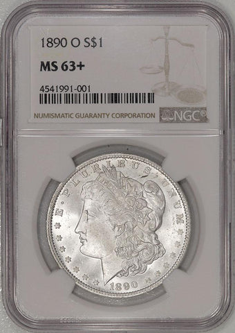 1890-O Morgan Dollar VAM-31 Doubled 9 - NGC MS 63+ - Choice Uncirculated