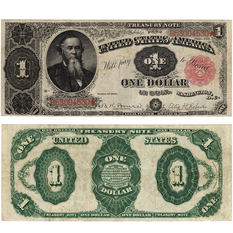 1891 $1 Treasury/Coin Note Fr. 352 - Very Fine