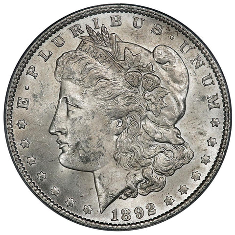 1892 Morgan Dollar - PCGS MS 62 - Brilliant Uncirculated