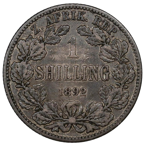 1892 South Africa Silver Shilling KM.5 - Very Fine