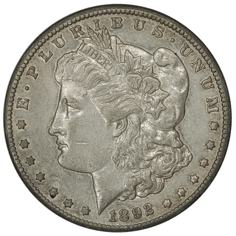 1892-CC Morgan Dollar - About Uncirculated - Carson City